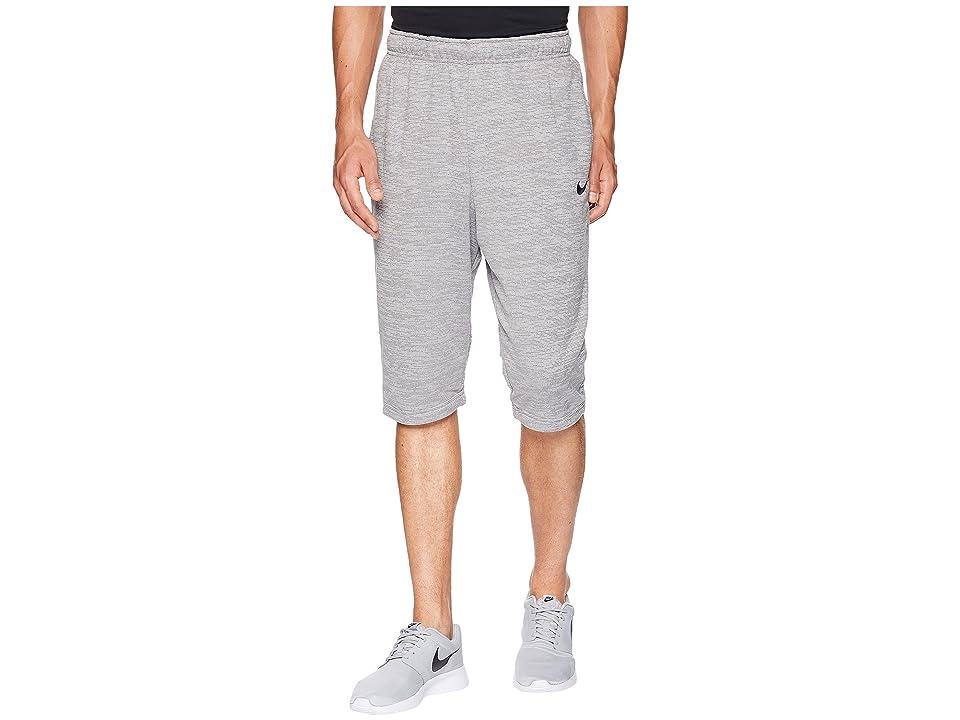 Nike Dry Fleece Long Training Short (Gunsmoke/Atmosphere Grey/Gunsmoke/Black) Men