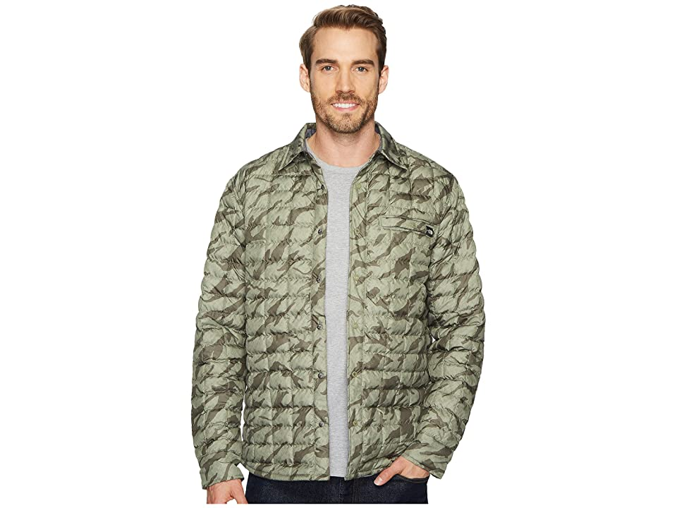 The North Face Reyes ThermoBall Shirt Jacket (Deep Lichen Green Marker Mountain Print) Men