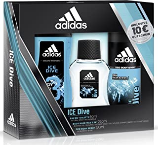 3cb27a156817 Adidas Ice Dive Eau de Toilette + Deodorante Body Spray + Shower Gel +  Online Shop