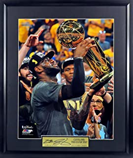 "Cleveland Cavaliers LeBron James ""The Trophy"" 16x20 Photograph (SG Signature Engraved Plate Series) Framed"