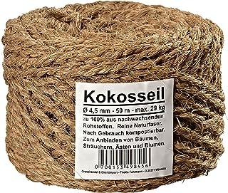 Kokosseil 4.5 mm - Baumanbinder aus Kokosfaser - ungefärbte Naturfaser - 50 m