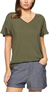 French Connection Women's Flutter Slouchy TEE, Khaki