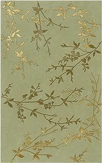 Surya Tamira Transitional Hand Tufted 100% Wool / Viscose Dried Oregano 8' Round Floral Area Rug