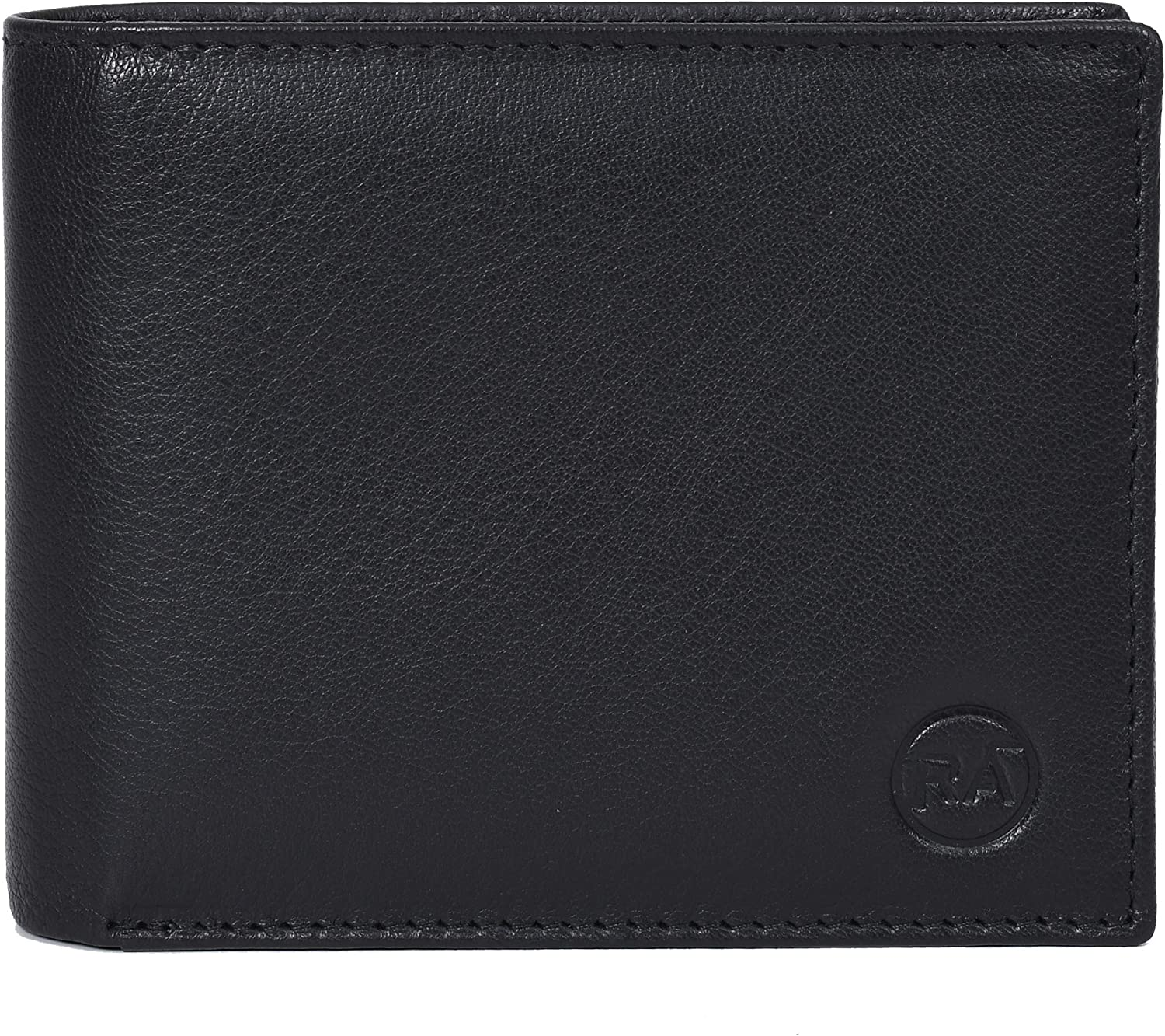 Rustic Ambrose Bifold RFID Leather Wallet with 10 card slots and 2 currency slots