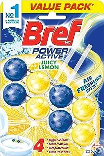 Bref Power Active Juicy Lemon, Rim Block Toilet Cleaner, 2x50g