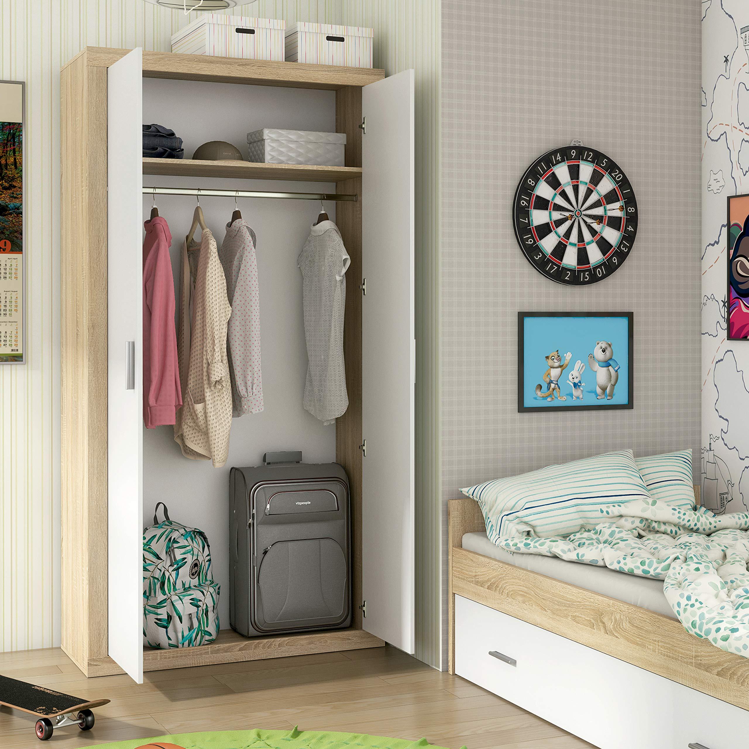 HomeSouth - Armario Dos Puertas Dormitorio habitación, Acabado en ...