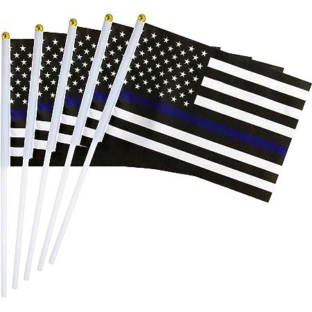WHOLESALE LOT 12 POLICE BLUE LINE FLAG PINS silver Lives Matter Law Enforcement