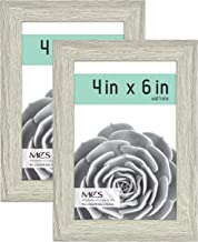 MCS Industries MCS 4x6 Inch Gallery 2-Pack, Gray Woodgrain Essential Frame, 4x6, 2 Count