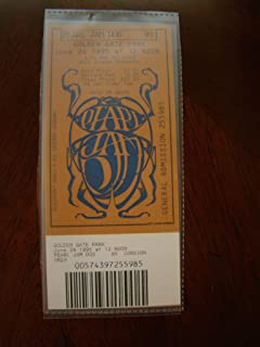 Pearl Jam Vintage Music Ticket Pearl Jam Neil Young S.F. 1995