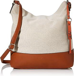 TOM TAILOR Schultertasche Damen Milano, Beige(mixed), one size, Handtasche, Tasche Damen