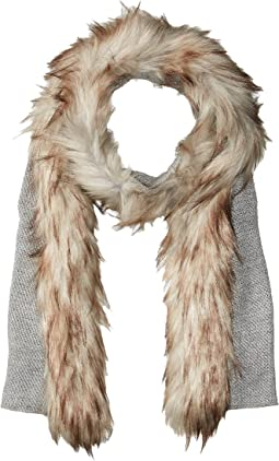 Coyote Trimmed Scarf with Lurex