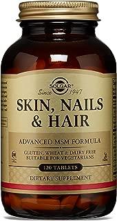 Solgar - Skin, Nails and Hair, Advanced MSM Formula, 120 Tablets - 2 Pack