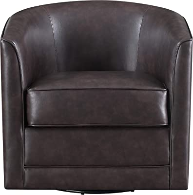 Emerald Home Furnishings Milo Accent Chair, Chocolate Brown