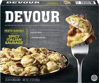 Devour Pesto Ravioli with Spicy Italian Sausage Frozen Meal (12 oz Box)