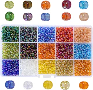 Efivs Arts 6/0 4mm Glass Seed Porcelain Beads Round Ball for DIY Jewelry Making-APPR. 2500pcs