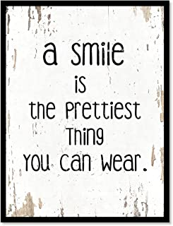 SpotColorArt A Smile is The Prettiest Thing You Can Wear Handcrafted Canvas Print 13