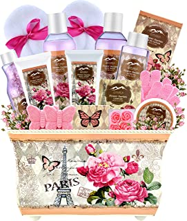 Spa Gift Baskets for Women - Deluxe Bath Basket Spa Set Gardener Gift Baskets - Womens Spa Bath & Body Works Lotion Set. Purelis Natural Spa Baskets for Women Gift The #1 Care Packages for Women!
