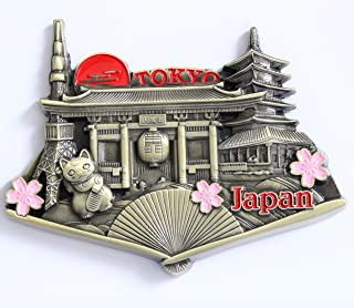 Japan Tokyo Metal Fridge Magnet Unique Design Home Kitchen Decorative Travel Holiday Souvenir Gift, Stick Up Your Lists Photos on Refrigerator