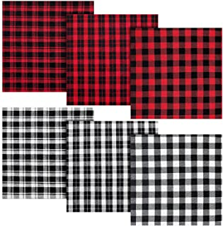 Red Tartan Checked Gingham Monochrome Alice Band white Black xx