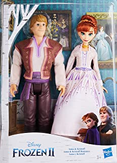 Disney Frozen Anna and Kristoff Fashion Dolls 2-Pack, Outfits Featured in the Disney Frozen 2 Movie