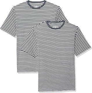 Men's Regular-Fit Short-Sleeve Stripe Crewneck T-Shirts