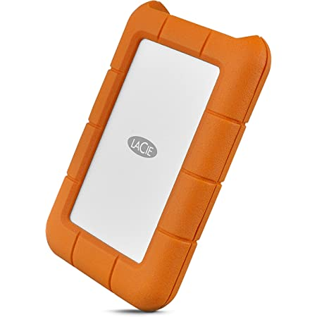 LaCie Rugged USB-C 5TB External Hard Drive Portable HDD – USB 3.0, Drop Shock Dust Rain Resistant Shuttle Drive, for Mac and PC Computer Desktop Workstation Laptop, 1 Month Adobe CC (STFR5000800)
