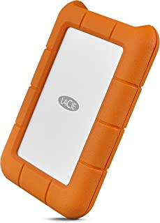 LaCie Rugged USB-C 5TB External Hard Drive Portable HDD – USB 3.0, Drop Shock Dust Rain Resistant Shuttle Drive, for Mac a...