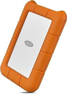 LaCie 萊斯 移動硬盤 便攜式2.5英寸防震,防摔和防砸外置硬盤,適用于PC和Mac STFR2000800 2 TB Rugged Mini USB 3.1(USB-C + USB 3.0)