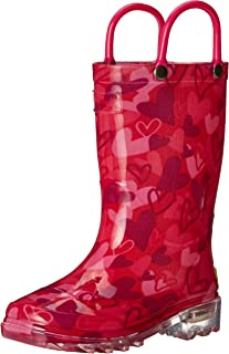 Western Chief Girls` Waterproof Rain Boots That Light up with Each Step