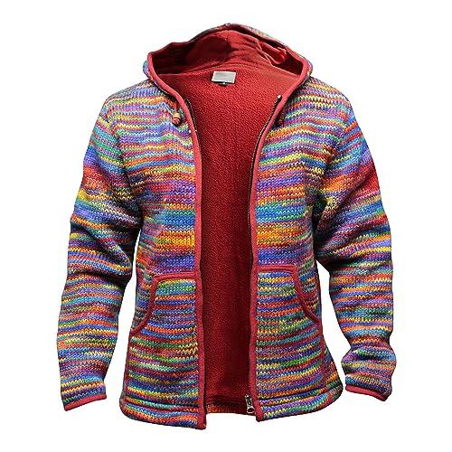 be340f8be3b Shopoholic Fashion Tie Dye Festival Hooded Woolen Hippy Jacket