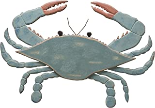 Primitives by Kathy Shaped Wooden Wall Art, 16.75 x 11.5-Inches, Blue Crab