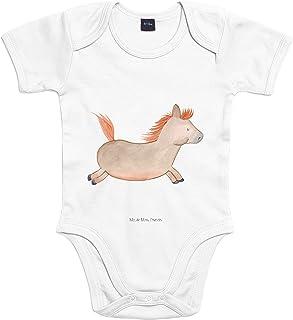 Mr. & Mrs. Panda Strampler, Babysuit, 3-6 Monate Baby Body Pferd springt - Farbe Transparent