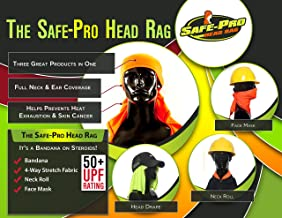 Safety Bandana, Head Cooling, Neck Protection, Sun Protection, UPF 50+
