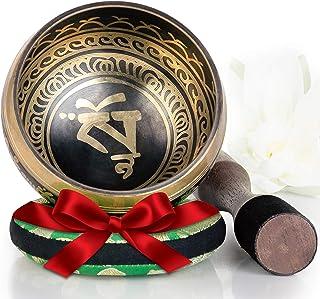 Silent Mind ~ Tibetan Singing Bowl Set ~ Balance and Harmony Design ~ Great For Mindfulness Meditation, Relaxation, Stress...