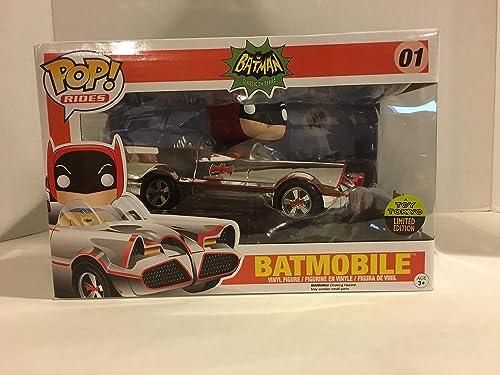 DC Comics POP  Rides Vinyl Vehicle with Figure   Chrome Batmobile SDCC 2016 Exclusive 12 cm Funko Mini figures