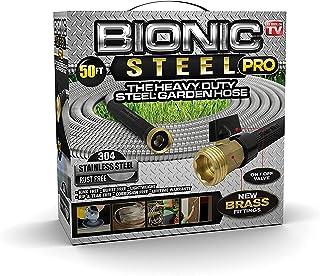Bionic Steel PRO Garden Hose - 304 Stainless Steel Metal 50 Foot Garden Hose – Heavy Duty Lightweight, Kink-Free, and Stro...