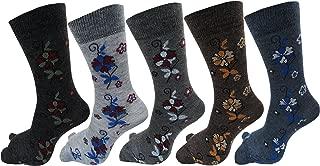 RC. ROYAL CLASS Women Calf Length Floral Design Thumb Woolen Multicolored Socks(Pack of 5 Pair)