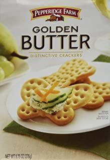 Pepperidge Farm, Golden Butter Crackers, 9.75oz Box (Pack of 2)