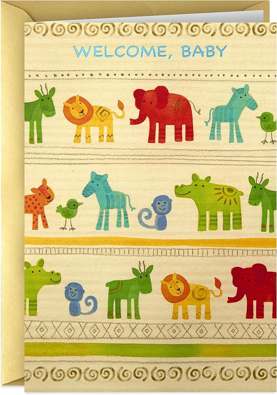 Hallmark Golden Thread Baby Shower Card (Jungle Animals)