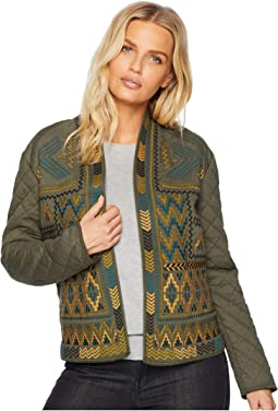 Long Sleeve Quilted Embroidered Jacket
