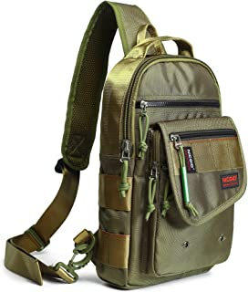 Nicgid Sling Bags, Chest Shoulder Backpacks Crossbody Purse Outdoor Chest Bag Travel Backpack for Men Women Hiking Camping Cycling
