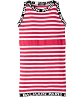 Balmain Kids - Sleeveless Knit Striped Dress (Big Kids)