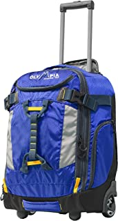 """Cascade 20"""" Outdoor Upright Carry-on W/Hideaway Backpack Straps, Blue"""