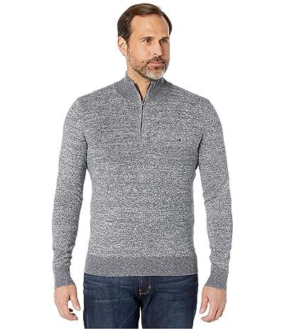 Calvin Klein Cotton Modal Long Sleeve 1/4 Zip (Snow Stone Heather) Men