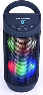 Sylvania SP606 Bluetooth Color Changing Neon Light up Speaker with Mic for Hands-Free Calling