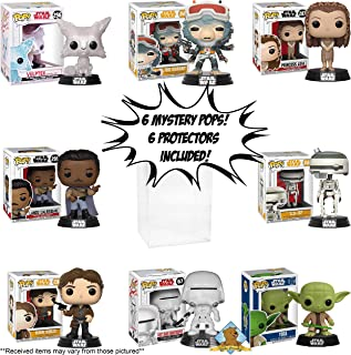 Funko POP Mystery - All Star Wars Bundle Pack Set of 6! Random 6 POPS! NO Duplication! Includes 6 Golden Groundhog Plastic Protector Cases! Bundle Produced by Golden Groundhog!