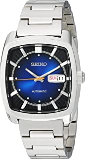 Seiko Men's RECRAFT Series Automatic-self-Wind Watch with Stainless-Steel Strap, Silver, 21 (Model: SNKP23)