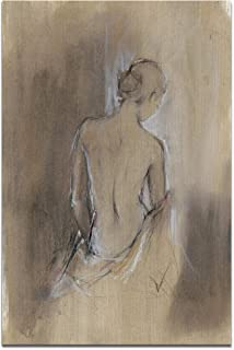 Renditions Gallery Contemporary Draped Figure II Gallery Wrapped Canvas Wall Art, 30x40,