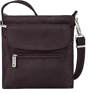 f4cb0eb025 Travelon Anti-Theft Classic Mini Shoulder Bag (Aubergine Twill - Exclusive  Color w