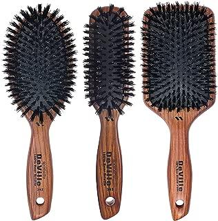 Spornette DeVille Boar Bristle Hair Brush Set - Professional Brushes Include Oval Paddle Brush #342, Paddle Brush #344, and Sculpting Brush #343 - For Women, Men, Kids of All Hair Lengths & Types